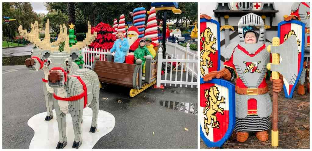 Regina Family Photography - Legoland California - Liske Family Travels - Lego Santa - Lego Knights