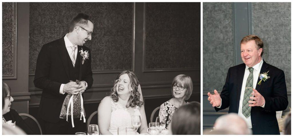Regina Wedding Photographers - Dave - Sarah - Wedding - The Hotel Saskatchewan - Intimate Reception - Groom