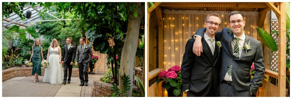 Regina Wedding Photography - Dave - Sarah - Wedding - Regina Floral Conservatory - Bridal Party - Best Man