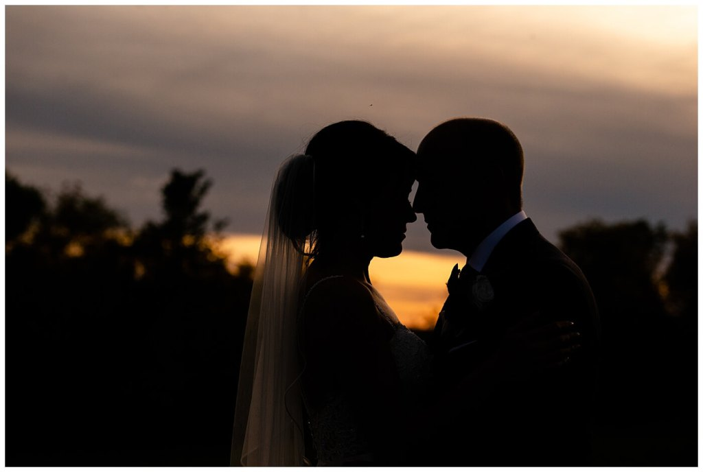 Scott & Keely - Regina Wedding - Sunset Silhouette