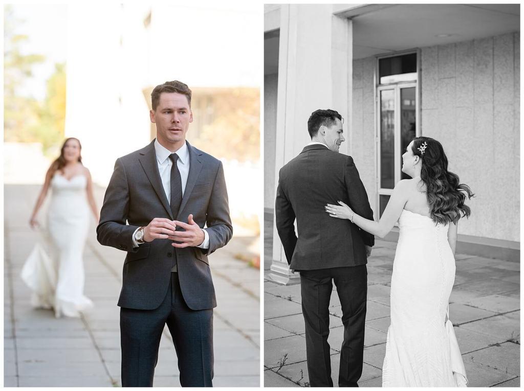 Regina Wedding Photographer - Tim & Jennelle At Home Wedding - First Look at University
