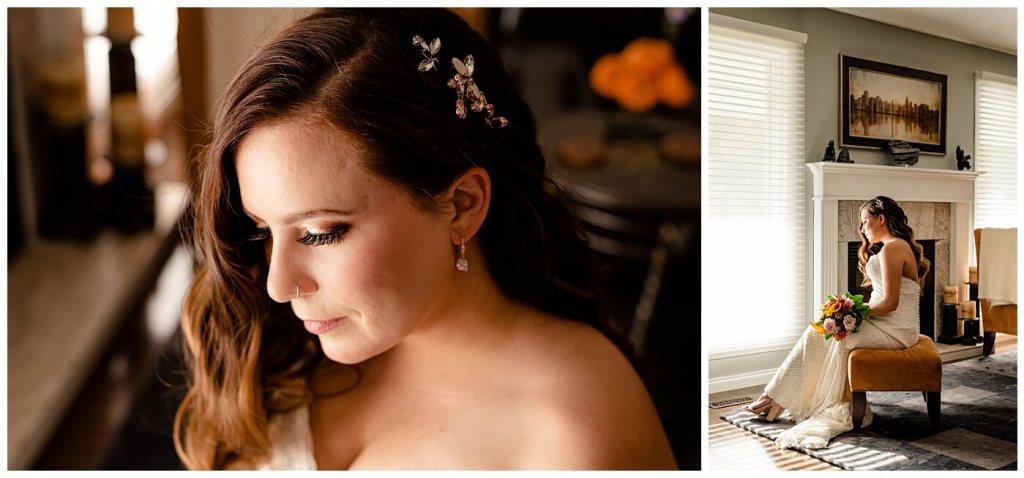 Regina Wedding Photographer - Tim & Jennelle At Home Wedding - Bride Portraits