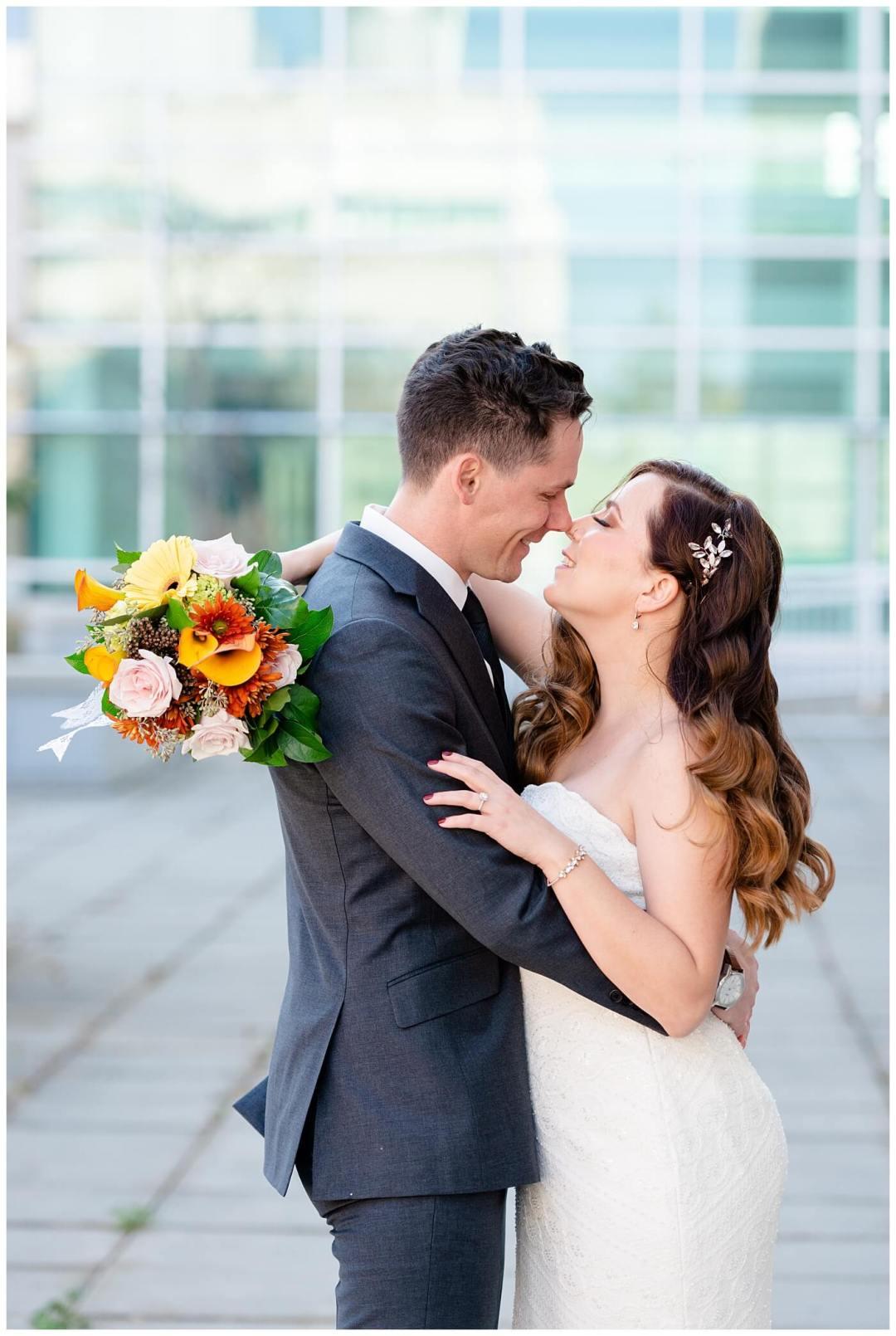 Regina Wedding Photographer - Tim & Jennelle At Home Wedding - Tim & Jennelle Giggle kiss