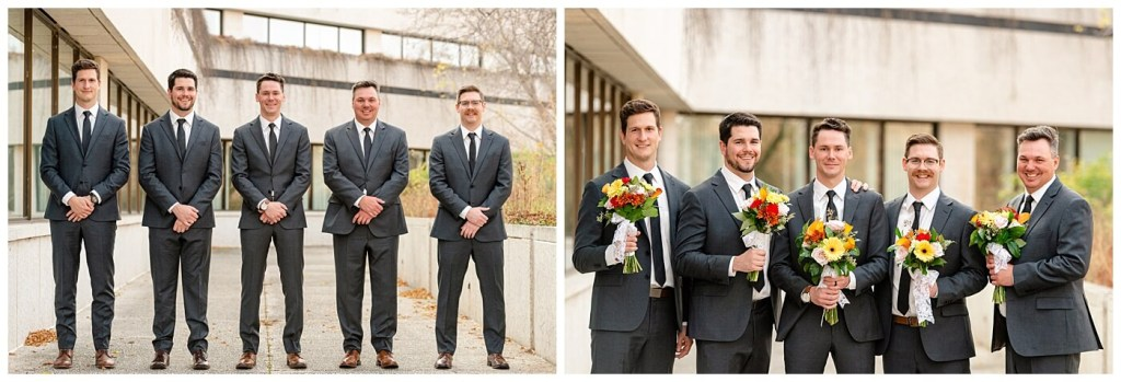 Regina Wedding Photographer - Tim & Jennelle At Home Wedding - Groomsmen at TC Douglas Building