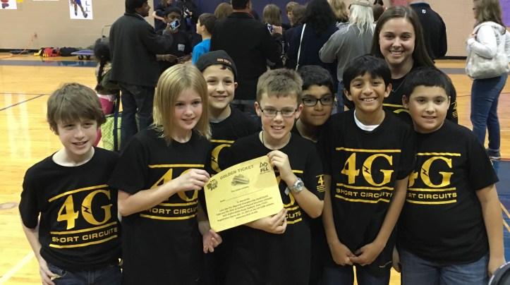4G Short Circuits celebrating their golden ticket