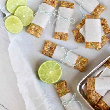Healthy Key Lime Pie Energy Bars