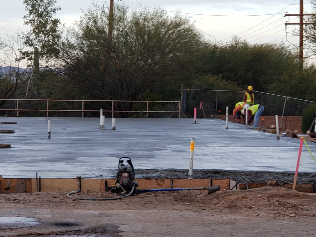 Foundation pad for Courtney Medical Group's new building