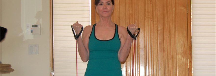 bicep curl using resistance bands