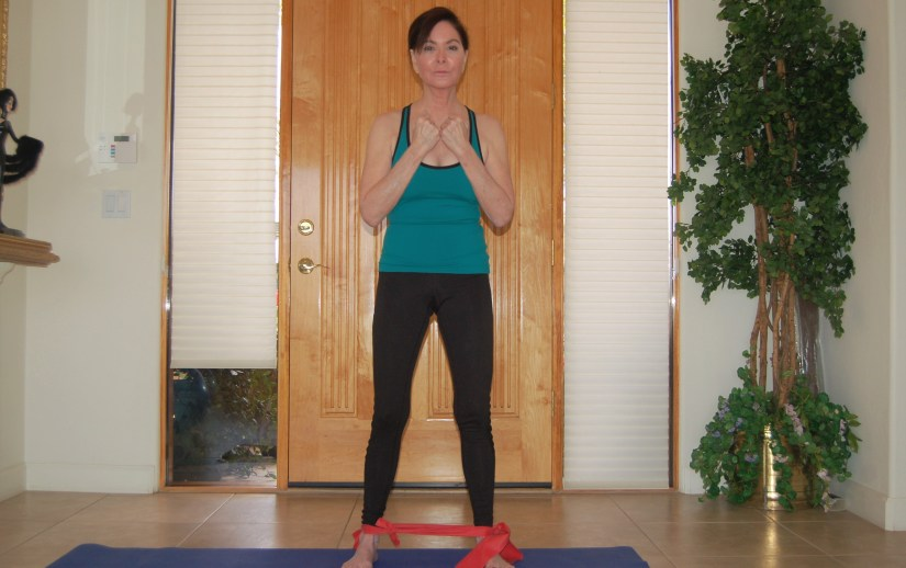 Side step with a resistance band
