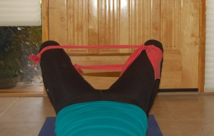 Hip Bridge Pulses with a resistance band