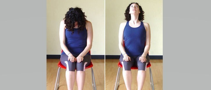 seated neck roll