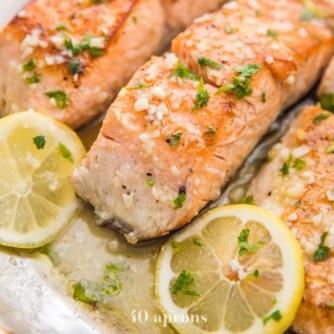 red meat alternative- lemon garlic salmon