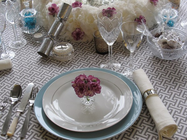 New Year's Dinner Table Setting