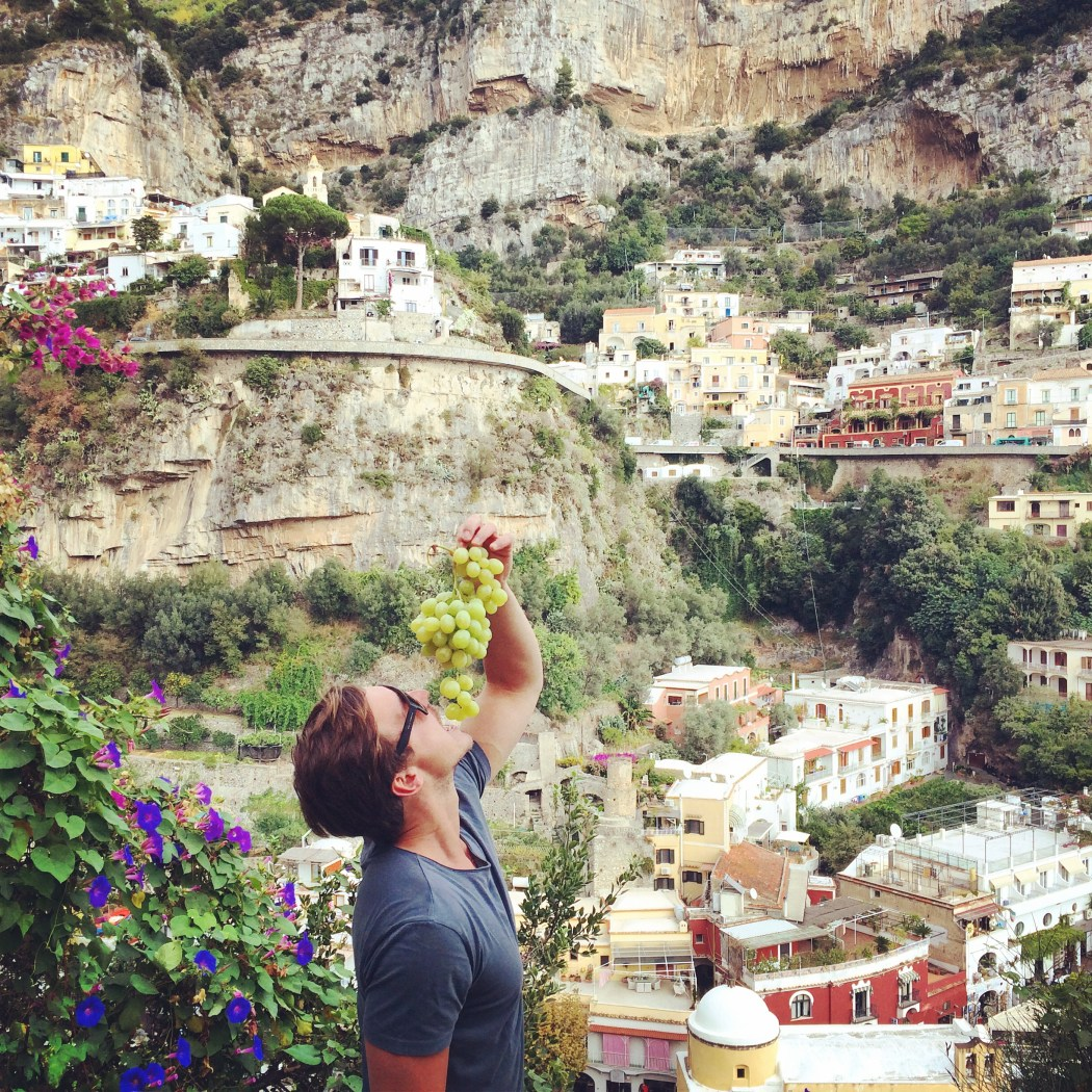 Positano Italy View Food Grapes