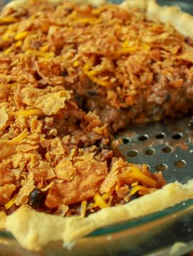 The BEST vegan taco pie