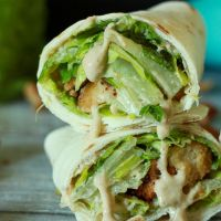 Amazing Vegan Caesar Wraps