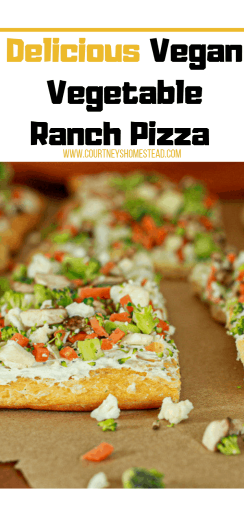 - Easy Vegan Vegetable Ranch Pizza-