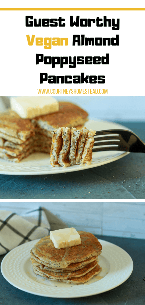 Guest Worthy Vegan Almond Poppyseed Pancakes