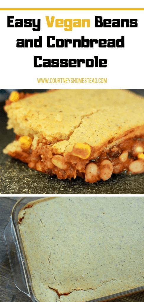 Crazy Delicious Easy Vegan Beans and Cornbread Casserole