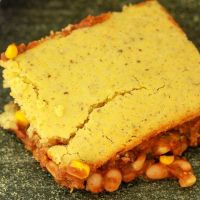 vegan beans and cornbread