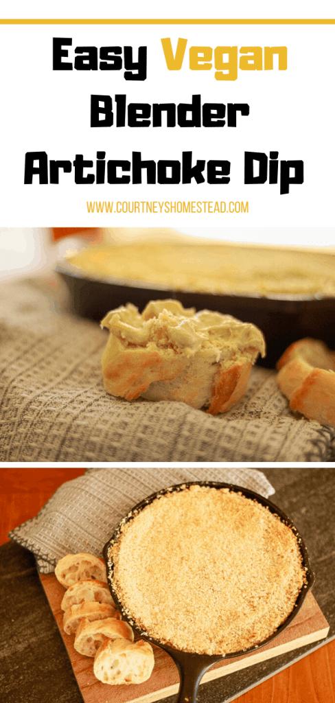 Easy Vegan Blender Artichoke Dip
