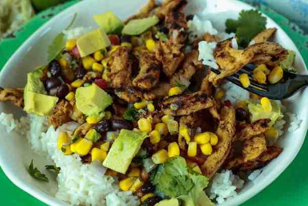 Delicious vegan taco bowls