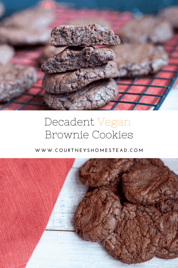 decadent vegan brownie cookies