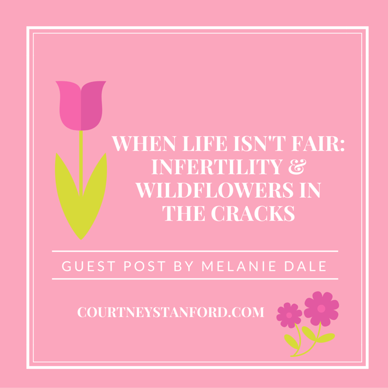 When Life Isn't Fair: Infertility & Wildflowers in the Cracks, guest post by Melanie Dale