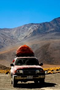 A standard 4x4 that traverses Southern Bolivia.