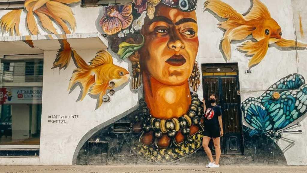 Frida mural - Puerto Vallarta, Mexico