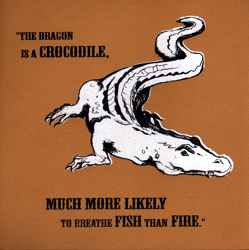 So in the story, the captive unicorn observes that the dragon is actually just a simple crocodile.