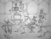 Skeleton Toast | Pencil, 2014