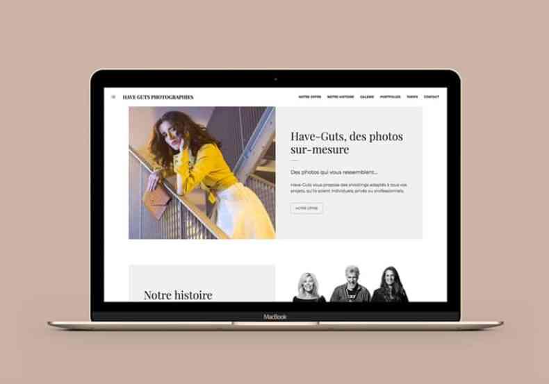 macbook avec site internet have-guts-photographies.com