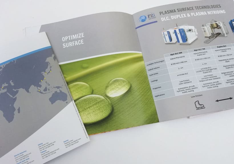 brochure bilingue société pd2i, traitement de surface outils coupants
