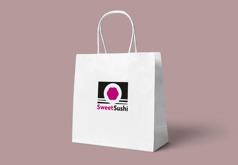 sac packaging logo sweet sushi