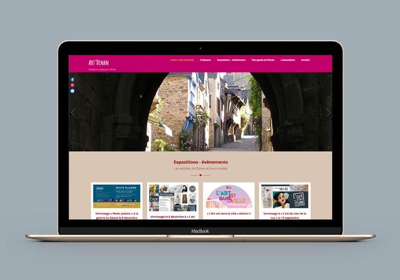 écran macBook site Art'Dinan