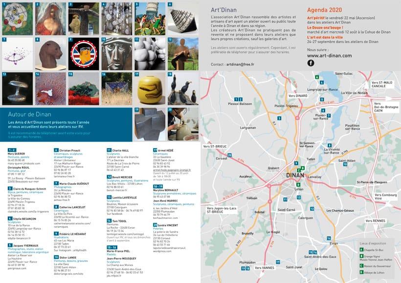 plan-guide des ateliers et galeries Art'Dinan
