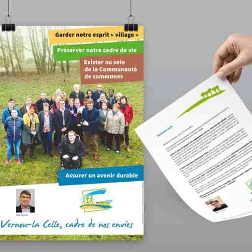 affiche et flyer campagne municipale 2020