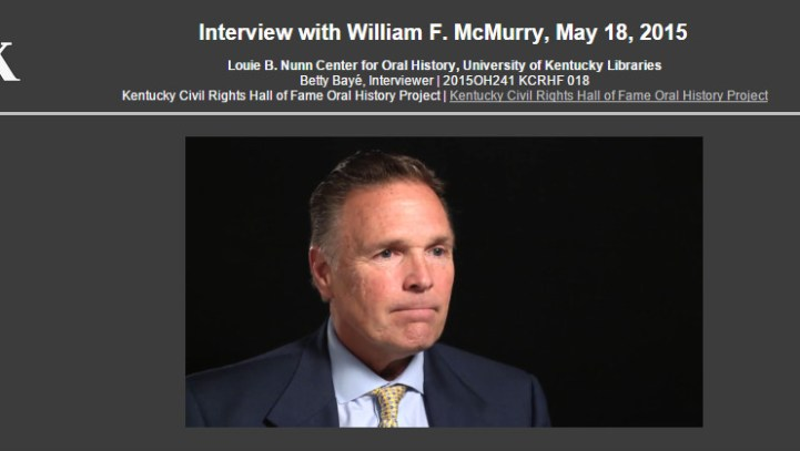 Interview with William F. McMurry