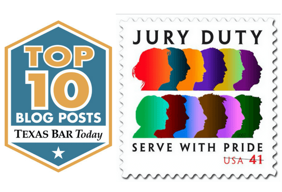 Jurors depicted on a postage stamp
