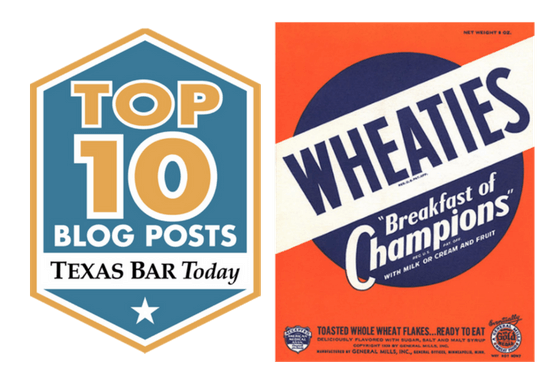 Vintage Wheaties Box Breakfast of Champions Top Ten Blog Post