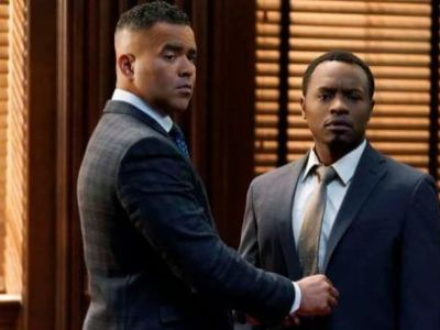 Chunk Palmer and client Eddie Mitchell, two characters in the CBS drama