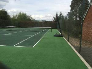 A tennis court in Brastead after restoration