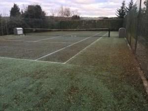 A tennis court in Brastead before restoration