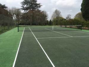A tennis court before restoration in Sissinghurst