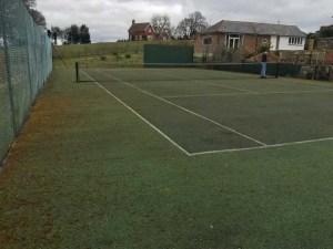 A tennis court in Wadhurst before restoration