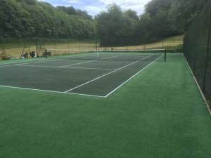 A tennis court in Sevenoaks after restoration