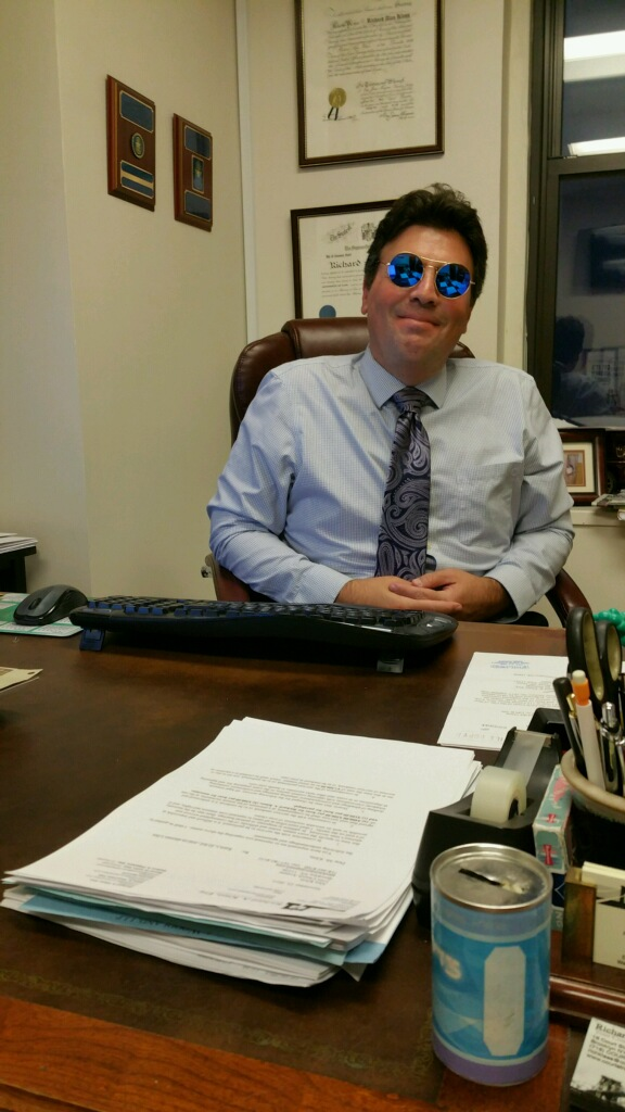 Rich Klass at work in his new Illesteva sunglasses.