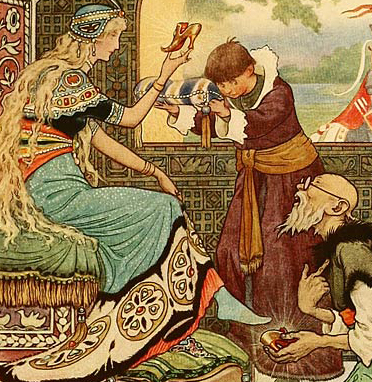 """Illustration from """"The Russian Story Book"""" by Richard Wilson, illustrated by Frank C. Papé, 1916, here illustrating a blog entry by Richard Klass about fraud."""