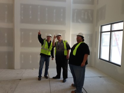 Robert and Taylor take a tour of the construction site!